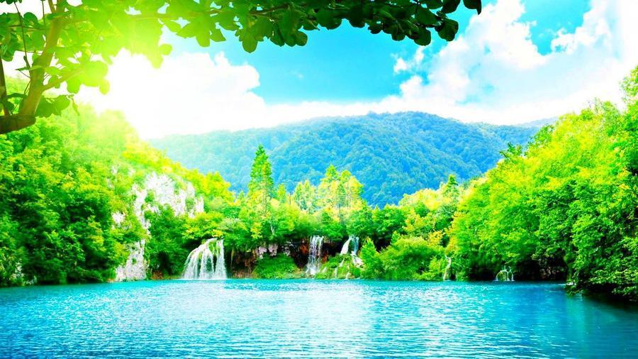 Краса природи  зачаровує - частина 2 Небо, Арт, Гори, Водоспад, Ліси, Ліс, Природа, Листя id1005429561