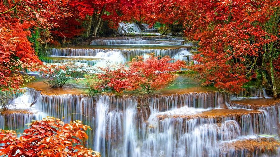 Краса природи  зачаровує - частина 2 Небо, Арт, Гори, Водоспад, Ліси, Ліс, Природа, Листя id1952017742