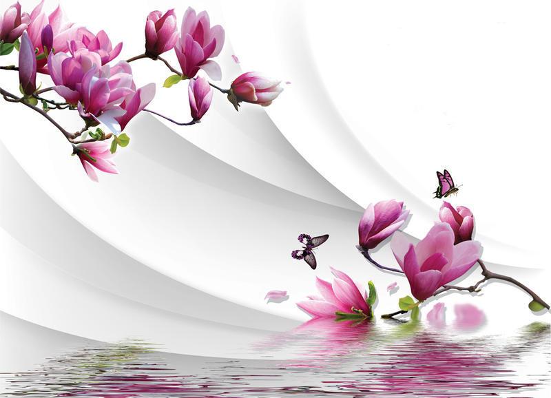 Знайомство з абстракцією 3d-  частина 1 Абстракція, 3D, Квіти, Краса, Мистецтво, ФотоШпалери, Магнолія, Троянди id1026251522
