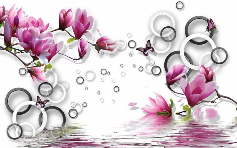 Знайомство з абстракцією 3d-  частина 1 Абстракція, 3D, Квіти, Краса, Мистецтво, ФотоШпалери, Магнолія, Троянди id234821016