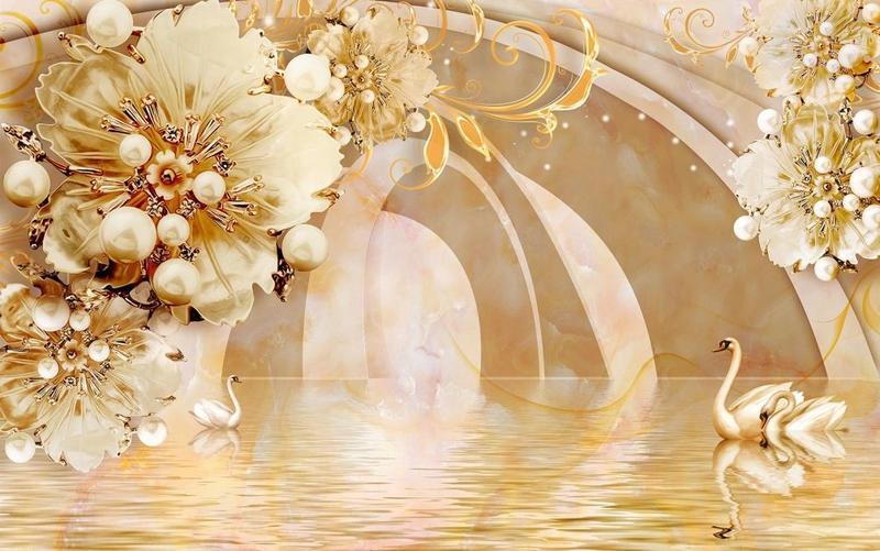 Знайомство з абстракцією 3d -  частина 5 Абстракція, 3D, Квіти, Краса, Мистецтво, ФотоШпалери, Спальня, Вітальня, Лебеді id149720937