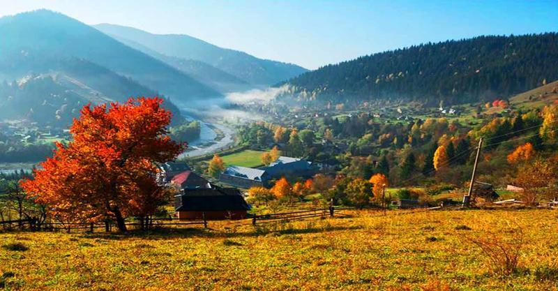 Краса жовтня - частина 17 Природа, Осінь, Жовтень, Дерева, Карпати, Схід, Сонце, Вода, Листя, Небо id829735507