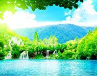 Краса природи  зачаровує - частина 2 Небо, Арт, Гори, Водоспад, Ліси, Ліс, Природа, Листя id1666451127