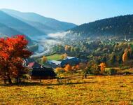 Краса жовтня - частина 17 Природа, Осінь, Жовтень, Дерева, Карпати, Схід, Сонце, Вода, Листя, Небо id1819235470