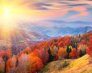 Краса жовтня - частина 17 Природа, Осінь, Жовтень, Дерева, Карпати, Схід, Сонце, Вода, Листя, Небо id138517693