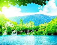Краса природи  зачаровує - частина 2 Небо, Арт, Гори, Водоспад, Ліси, Ліс, Природа, Листя id1281723227